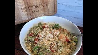 Салат с киноа и креветками: рецепт от Foodman.club