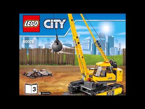 LEGO City Demolition Site 60076 Instructions Book DIY 3