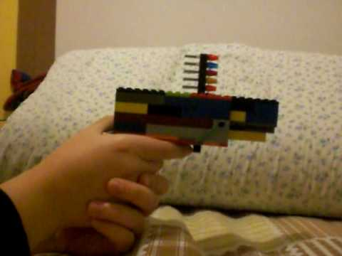 semi-automatic lego pistol (working) - YouTube