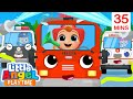 Here Comes the Rescue Team | Policeman, Fireman, & Ambulance | Little Angel Kids Songs