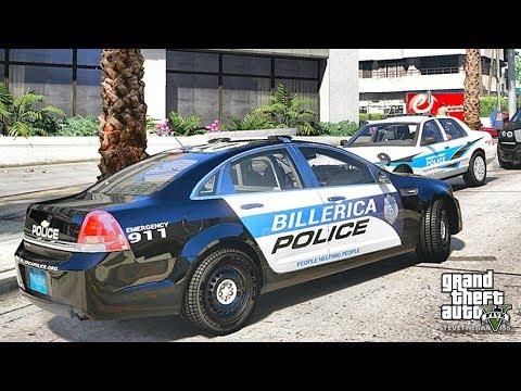 GTA 5 MODS LSPDFR 930 - BILLERICA PATROL!!! (GTA 5 REAL LIFE PC MOD)