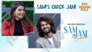 Sam's Quick Jam | Vijay Deverakonda | Samantha | Sam Jam | An aha Original | Watch on aha