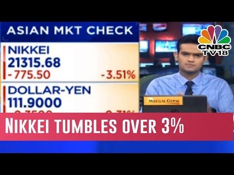 Asian Markets Decline, Nikkei Tumbles Over 3%