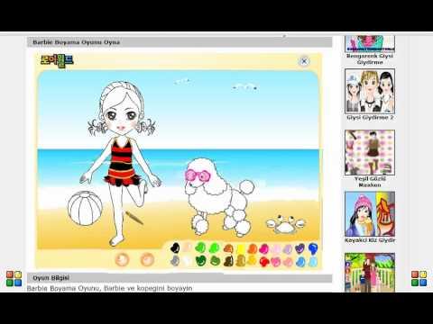 Barbie Boyama Oyunu Youtube