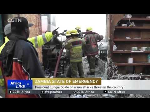 President Lungu: Spate of arson attacks threaten the country