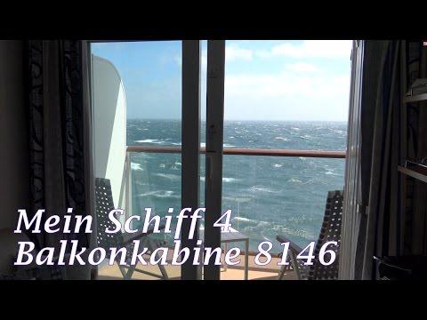 Mein Schiff 4: Balkonkabine 8146 im Detail | Balcony Cabin | TUI Cruises