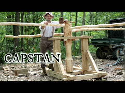 Timber framing a medieval capstan