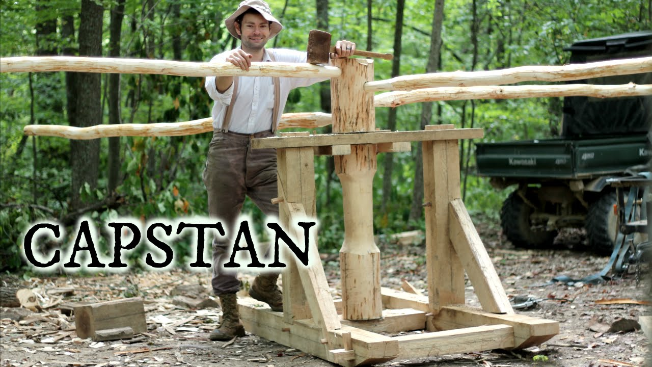 Timber Framing A Medieval Capstan Youtube