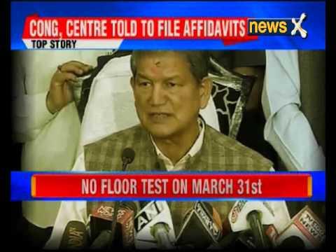 HC stays floor test in Uttarakhand