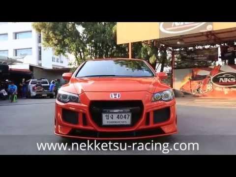 ชุดแต่ง Civic FD1 ทรง GT สีส้มแลมโบ จาก NEKKETSU racing