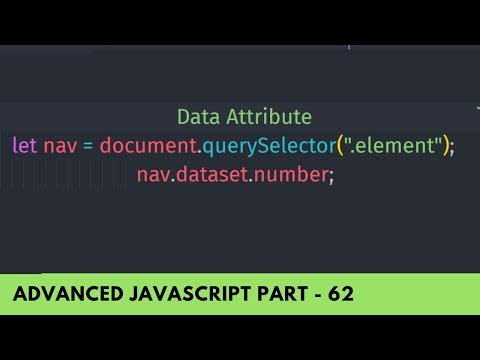 Use Data Attribute In HTML And JavaScript - Advance JavaScript Tutorial Part 62
