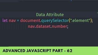 Use Data Attribute In HTML and JavaScript - Advance JavaScript Tutorial Part 62