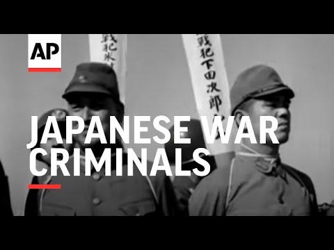 JAPANESE WAR CRIMINALS TO BE HANGED - NO SOUND