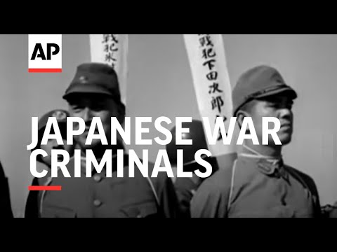 JAPANESE WAR CRIMINALS TO BE HANGED