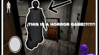 THIS IS A HORROR GAME!!?   GRANNY MOBILE HORROR GAME