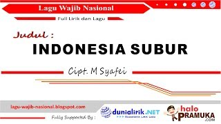 Download lagu INDONESIA SUBUR Lirik MP3