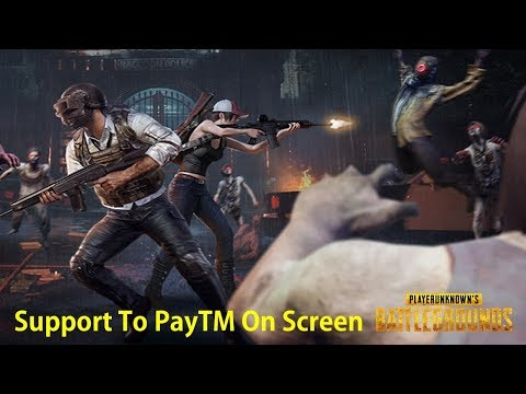 PUBG MOBILE Game Live TeluguGamer Support To PayTM On Screen