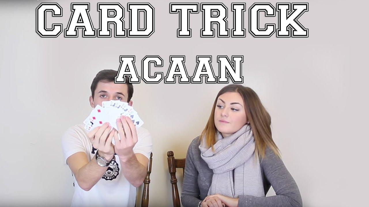 acaan card trick  learn easy card tricks  youtube