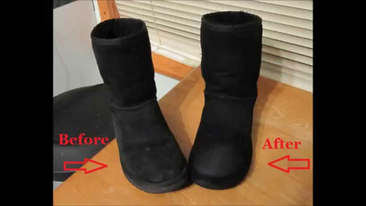 How To Clean Ugg Boots Without Cleaner Youtube