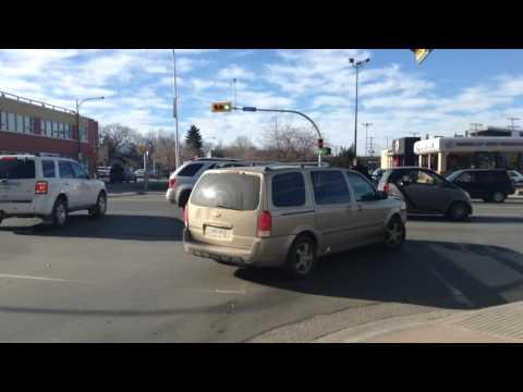 Dicey Crosswalk In Regina Sask