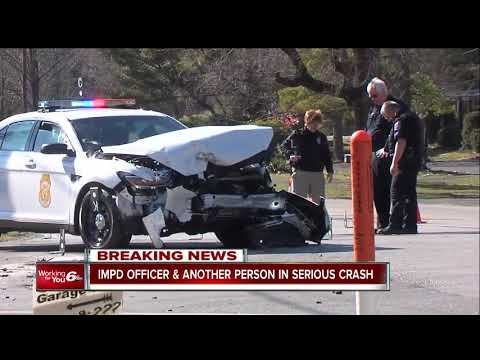 Indianapolis Metropolitan Police Department officer involved in serious two-car crash