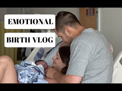 EMOTIONAL LIVE BIRTH VLOG | LABOR & DELIVERY