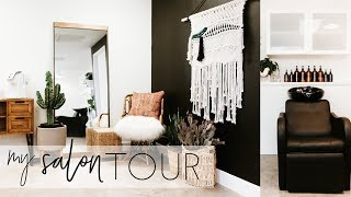 SALON TOUR - See inside my 600 sq ft salon!