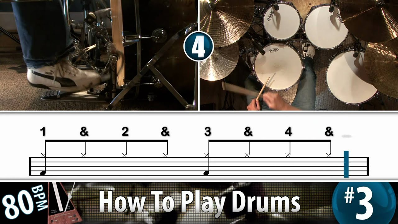 How To Play Drums with a Free 6-Minute Video Drum Lesson