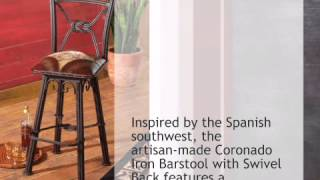 Coronado Iron Barstool With Swivel Back - Set Of 2 - Lonestarwesterndecor.com