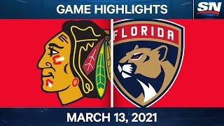 NHL Game Highlights   Blackhawks vs. Panthers – Mar. 13, 2021
