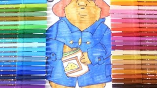 How to draw Bear Paddington for Kids Learning colors.
