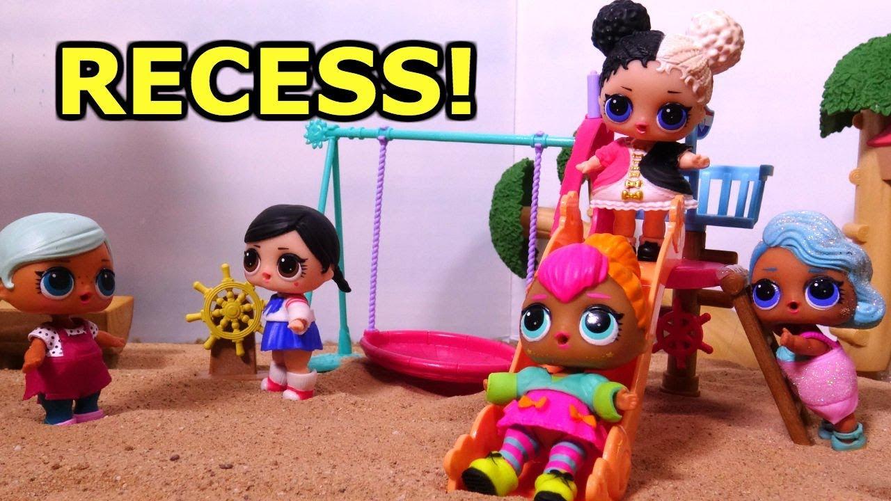Lol Surprise Dolls Go To Recess Lol Doll School Youtube