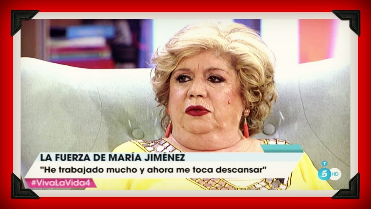 Mar a jim nez regala momentos gloriosos en el programa de - Youtube maria jimenez ...
