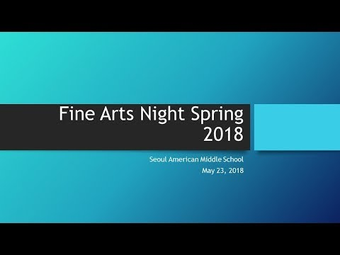 SAMS Spring Fine Arts Night 2018