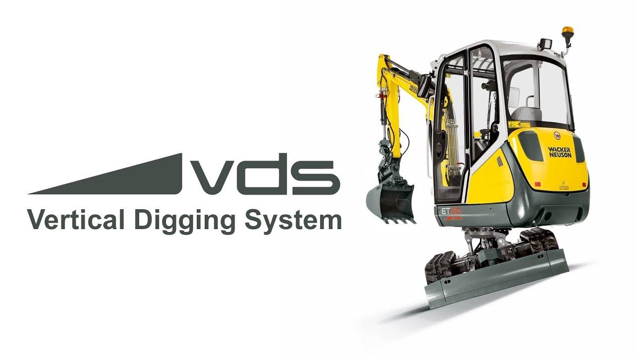 vertical digging system vds for excavators wacker. Black Bedroom Furniture Sets. Home Design Ideas