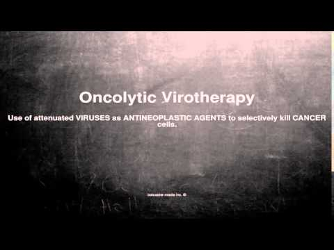 Medical vocabulary: What does Oncolytic Virotherapy mean