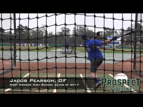 Jacob Pearson Prospect Video, OF, West Monroe High School Class of 2017