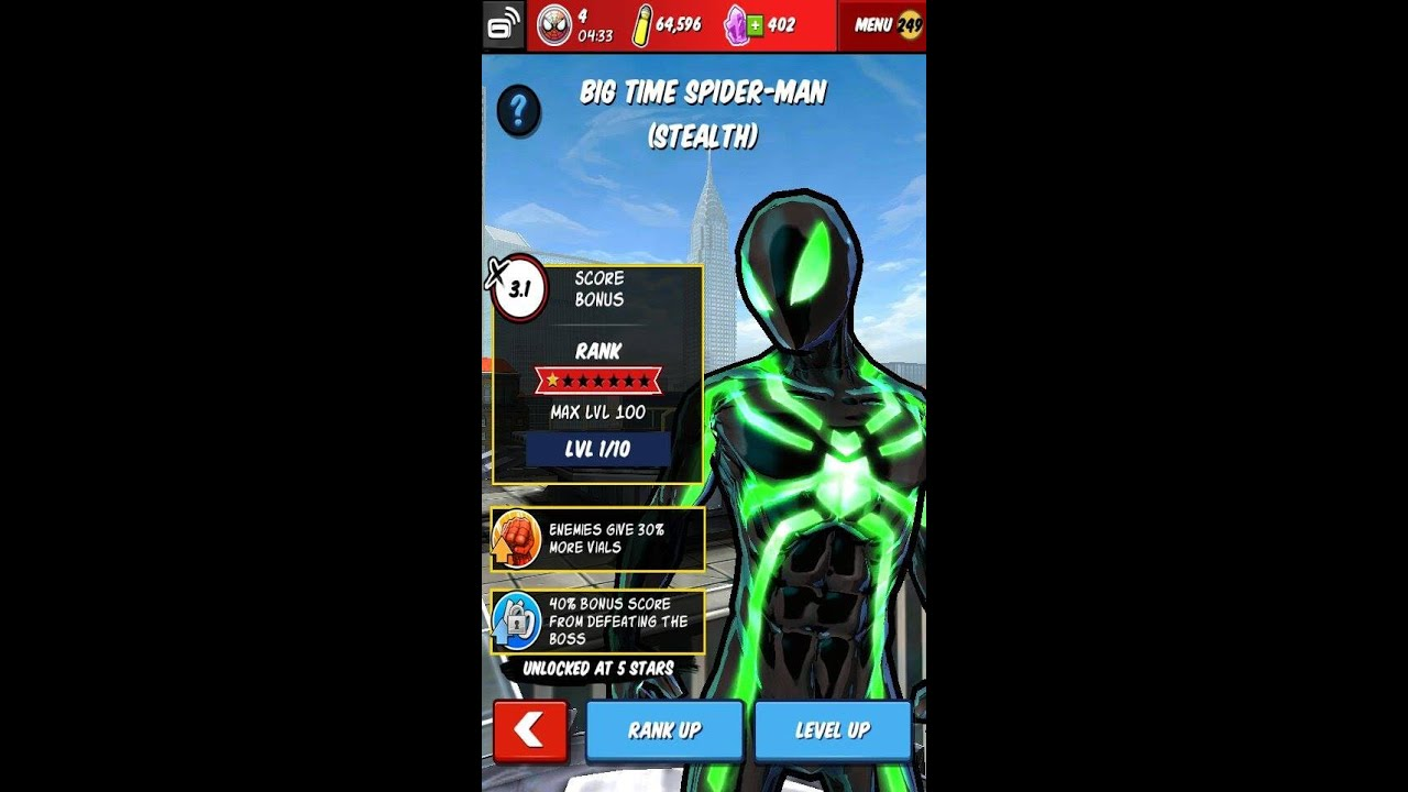 Spiderman Unlimited l Character Review l Big Time Sonic ( Stealth ...