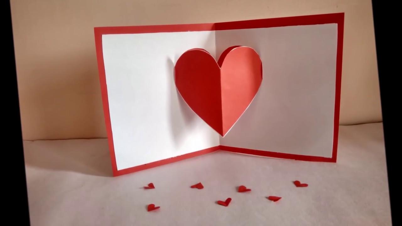 Heart Pop Up Card By Zainab Youtube