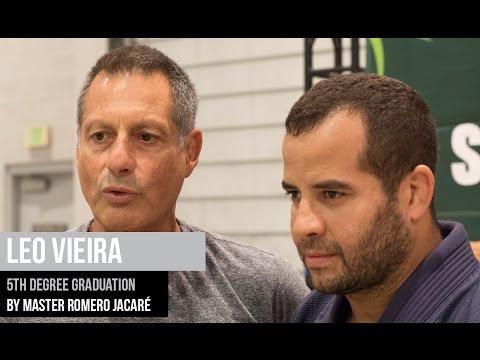 Leo Vieira 5th degree BJJ graduation by master Romero Jacare