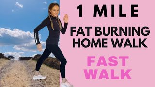 WALK AT HOME | 1 MILE WALK | WALKING WORKOUT | CALORIE BURNING INDOOR WALKING QUARANTINE WORKOUT