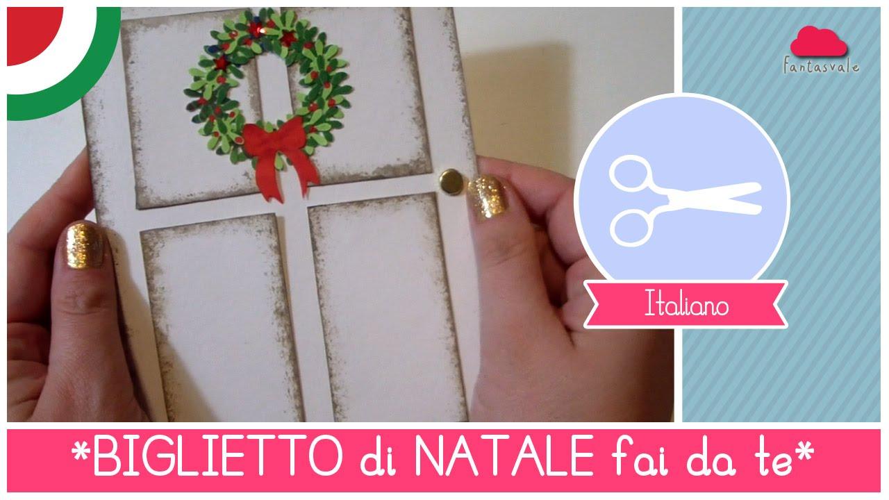 Natale fai da te biglietto natalizio a forma di porta con - Pacchetti natalizi fai da te ...