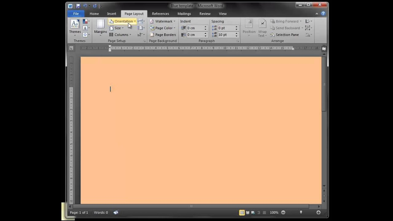 Change Page Color In Word Fair How To Change Microsoft Word Page Colour  Youtube Decorating Design