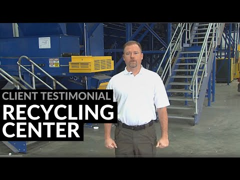 Industrial Steel Building, Recycling Center Testimonial