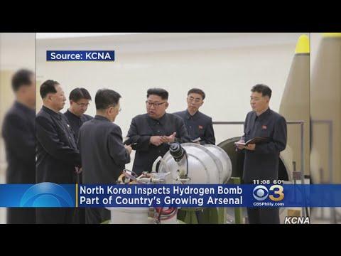 North Korean Leaders Inspect Hydrogen Bomb