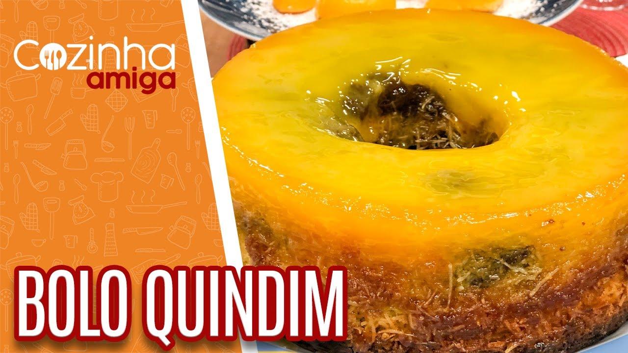 Bolo Quindim - Flávio Duarte   Cozinha Amiga (14/10/21)