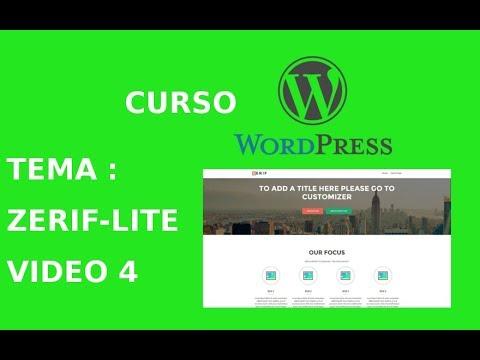 Creando un tema hijo en Wordpress. Tema: Zerif Lite - YouTube