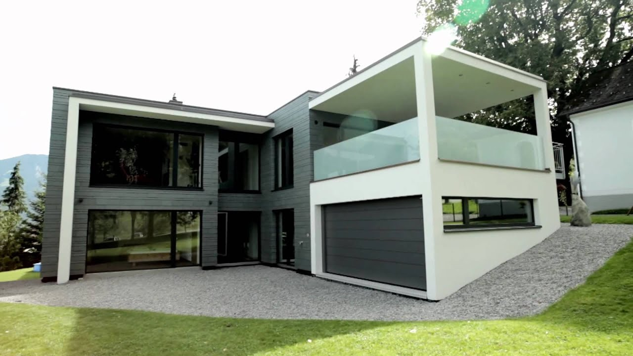 Moderne architektur schiefer youtube for Haus design moderne architektur