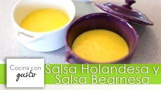 Receta de Salsa Holandesa y Salsa Bearnesa por Mario Sandoval
