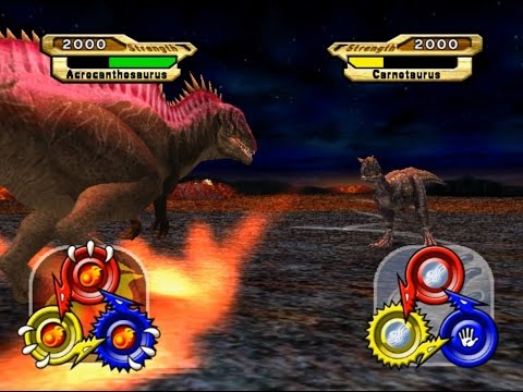 Dinosaur King Arcade Game 恐竜キング - Super Alpha Acrocanthosaurus VS Operation-Dinosaur Rescue